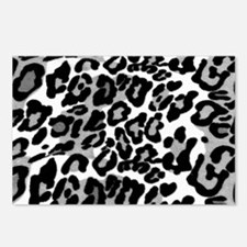 Gray Leopard Pattern Postcards (Package of 8)