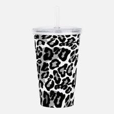 Gray Leopard Pattern Acrylic Double-wall Tumbler