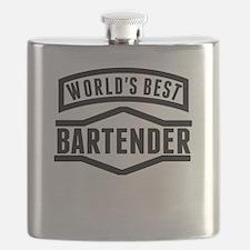 Worlds Best Bartender Flask