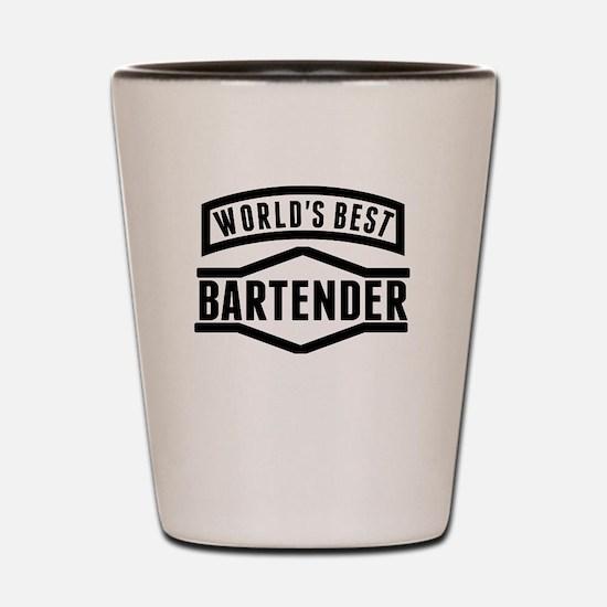 Worlds Best Bartender Shot Glass