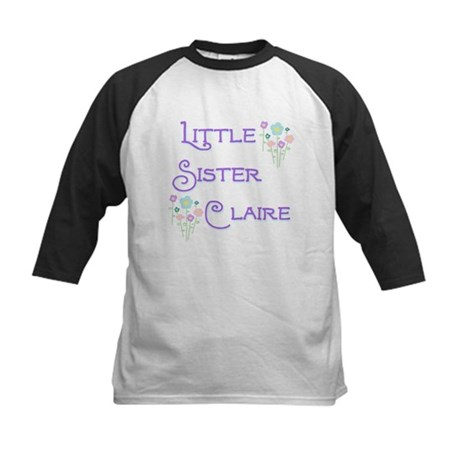 Little Sister Claire Kids Baseball Jersey
