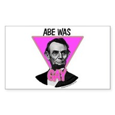 Abe Was Gay Rectangle Decal
