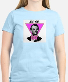 Abe Was Gay Women's Pink T-Shirt