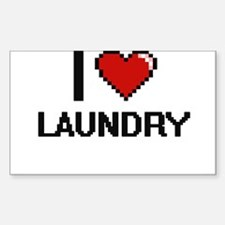 I Love Laundry Decal