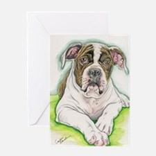 American Bulldog Greeting Cards