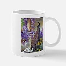 Bidau Peacock, Doves Wisteria Mugs