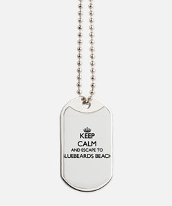 Keep calm and escape to Bluebeards Beach Dog Tags