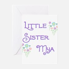Little Sister Mya Greeting Cards (Pk of 10)