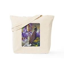 Bidau Peacock, Doves Wisteria Tote Bag