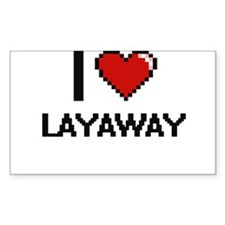 I Love Layaway Stickers