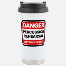 Danger: Percussion Rehe Stainless Steel Travel Mug