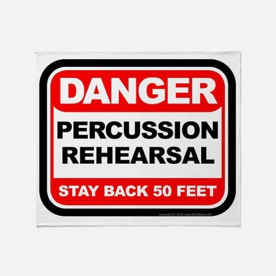 Danger: Percussion Rehearsal Throw Blanket