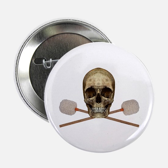 """Bass Drum Pirate 2.25"""" Button (10 pack)"""