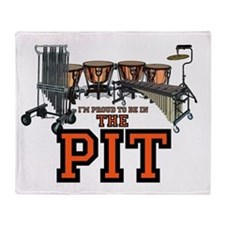 Proud to Be In the Pit Throw Blanket
