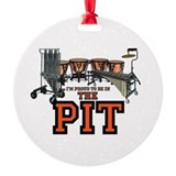 Marching band pit crew Round Ornament