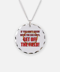 Drum With the Big Boys Necklace Circle Charm