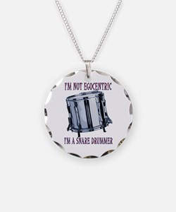 Egocentric Snare Necklace Circle Charm