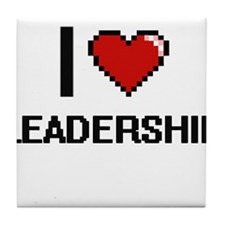 I Love Leadership Tile Coaster