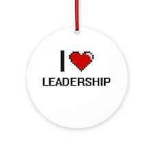 I Love Leadership Ornament (Round)