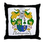 Zubizaretta Family Crest Throw Pillow