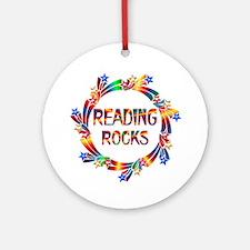 Reading Rocks Ornament (Round)
