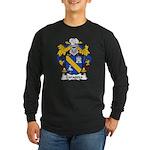 Zaragoza Family Crest Long Sleeve Dark T-Shirt