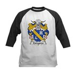 Zaragoza Family Crest Kids Baseball Jersey