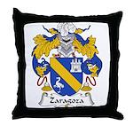 Zaragoza Family Crest Throw Pillow