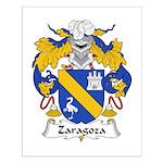 Zaragoza Family Crest Small Poster