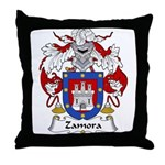 Zamora Family Crest Throw Pillow