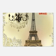 girly lace paris eiffel t Postcards (Package of 8)