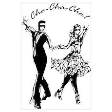 Inkblot Cha-Cha-Cha Wall Art Poster