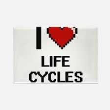 I Love Life Cycles Magnets
