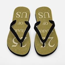 25th Wedding Anniversary Flip Flops