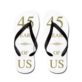 45th wedding anniversary Flip Flops