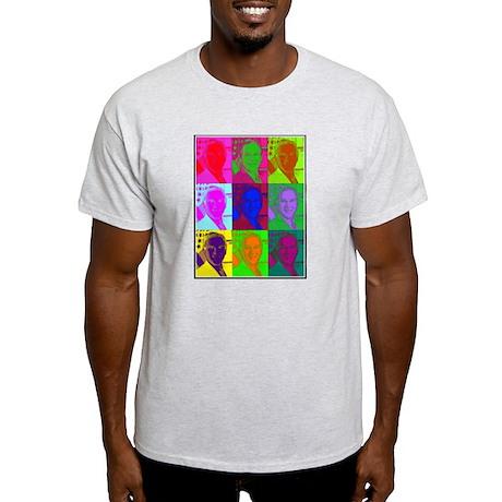 Psychedelic BUSH (à la Warhol) Ash Grey T-Shirt