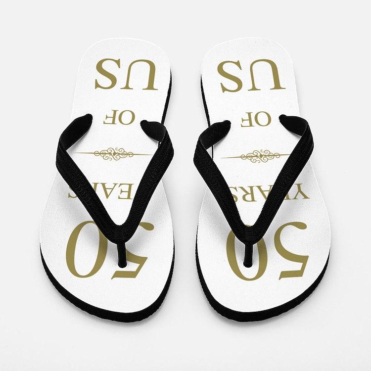 50th Wedding Anniversary Flip Flops