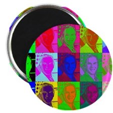 Psychedelic BUSH (à la Warhol) Magnet