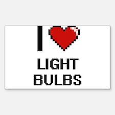 I Love Light Bulbs Decal