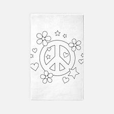 Give Peace a Chance Area Rug