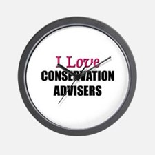I Love CONSERVATION ADVISERS Wall Clock