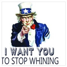 Uncle Sam Stop Whining Framed Print