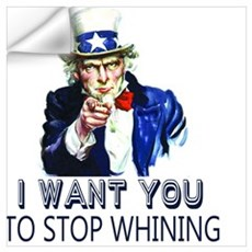 Uncle Sam Stop Whining Wall Decal