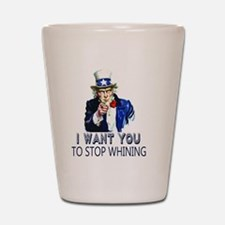 Uncle Sam Stop Whining Shot Glass