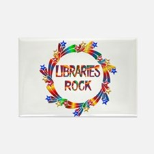 Libraries Rock Rectangle Magnet (10 pack)
