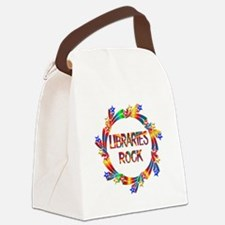 Libraries Rock Canvas Lunch Bag
