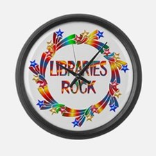 Libraries Rock Large Wall Clock