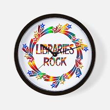Libraries Rock Wall Clock