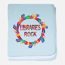 Libraries Rock baby blanket