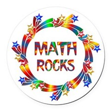 Math Rocks Round Car Magnet